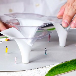 FORMART-LITE小型真空成型機(桌上型真空吸塑機)製作的建築模型