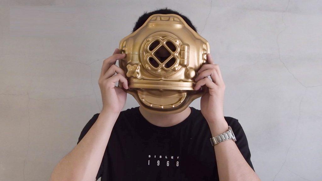 利用真空成型機(真空吸塑機)製作面具
