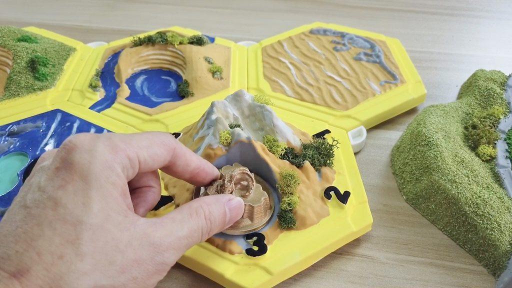 利用真空成型機(真空吸塑機)製作3D卡坦島立體桌遊